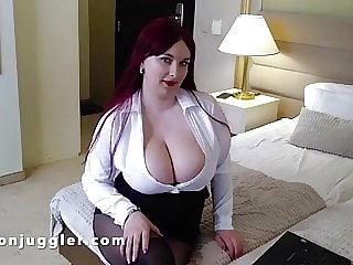 Huge tits secretary turns horny