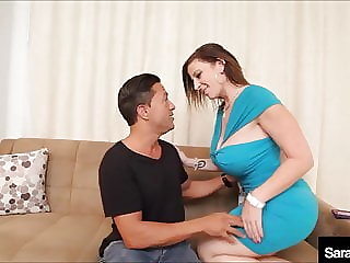 Busty Milf Sara Jay Opens Her Lovely Legs For A Stiff Dick!